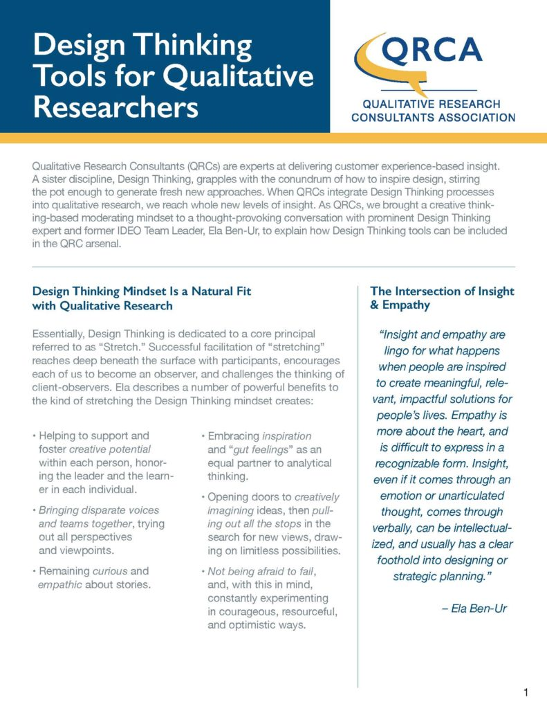 Design Thinking Tools For Qualitative Researchers Nuthinking
